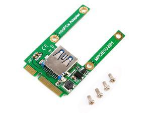 Mini PCI-E Card Slot Expansion to USB 2.0 Interface Adapter Riser Card FF