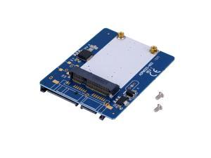 2.5-inch Blue High-capacity high-power Serial mSATA to SATA Adapter FF