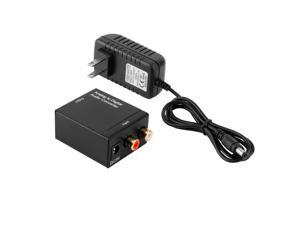 Analog L/R to Digital Coaxial Coax RCA & Optical Audio Converter Adapter