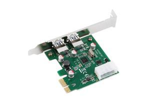 PCI-E PCI Express 2 port USB 3.0 Card Adapter w/ USB 3.0 Front Panel