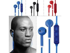 Mini Bluetooth Wireless Headset Stereo Universal Handfree Black Blue Red