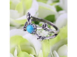 6pcs Turquoise Arrow Moon Midi Rings Set Women Jewelry New Fashion Gift