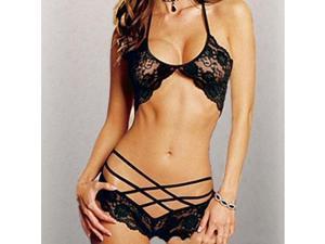 Sleepwear Sexy Lady Lace Lingerie Underwear Bra G-String Nightwear Babydoll