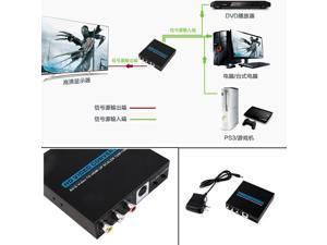 New 720p/1080P AV/S-Video to HDMI Up Scaler HD Converter Adapter for HDTV