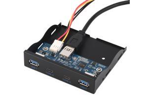 3.5'' USB 3.0 Port HUB + USB 3.1 Type C Floppy Drive Bay Front Panel Rack