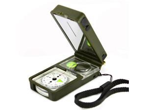 Outdoor Multifunction 10 in 1 Military Camping Survival Compass With Hygrometer Led Light Thermometer Flint Fire Starter