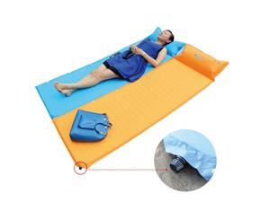 Self Inflate Camping Mat Inflatable Pillow Sleeping Bag Cushion Bed Roll