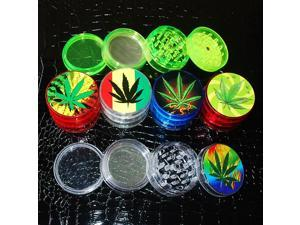 Transparent Acrylic Herbal Pollen Grinder Spice Crusher with 4 Layers