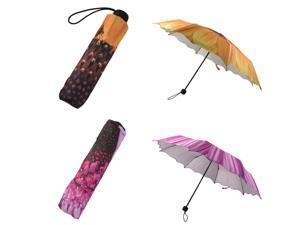 Women Fashion Portable Sunflower Folding Travel Anti UV/Rain/Sun Umbrella