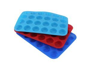24-Cavity Muffin Cup Silicone Cookies Cupcake Bakeware Pan Soap Tray Mould