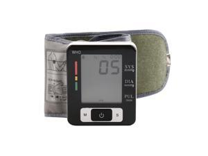 Automatic LCD Digital Wrist Blood Pressure Monitor Heart Pulse Measure