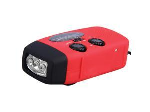 Emergency Hand Crank Generator Solar AM/FM/WB Radio Flashlight Charger