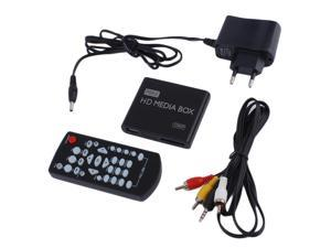 Mini Full 1080p HD Media Player Box MPEG/MKV/H.264 HDMI AV USB + Remote Black  EU