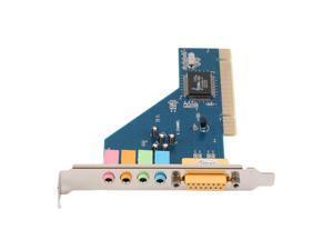 New 4 Channel 5.1 Surround 3D PCI Sound Audio Card for PC Windows XP/Vista/7