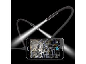 USA STOCK 2M 6 LED USB Waterproof Endoscope Borescope Snake Inspection Video Camera 7mm
