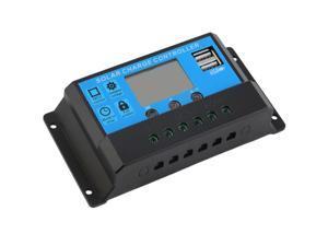 New 10A 12V/24V TX-10BL Solar Charge Controller 2 USB Ports LED Display