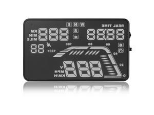 """5.5"""" Car Universal Head Up Display GPS Speed Warning System Fuel Consumption"""