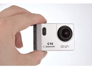 SOOCOO C10 Wifi Action Camera - Full HD 1080p, 170° Super Wide Angle Waterproof To 98'(30m) Mini Appearance