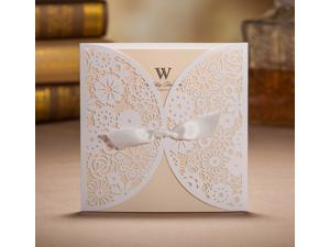 Wishmade cards shanghai co ltd newegg 50pcs bhands laser cutting lace wedding invitation cards stopboris Image collections