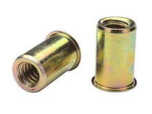 AEOS10-832-80, RIVETNUT, 8-32  (.020-.080 GR) RND BODY, LOW PRO HD, STEEL, ZINC CLR (100 PK)