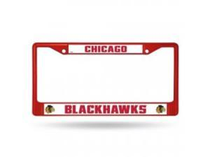 Chicago Blackhawks Anodized Red License Plate Frame