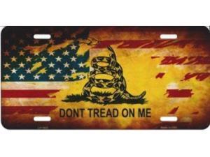 Gadsden / U.S. Flag Don't Tread License Plate