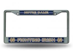 Notre Dame Glitter Chrome License Plate Frame  Free Screw Caps with this Frame