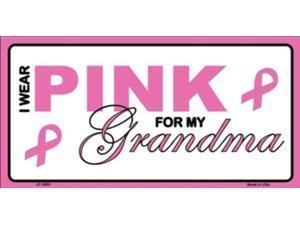 I Wear Pink For My Grandma Breast Cancer Plate