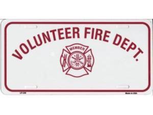 VOLUNTEER FIRE DEPT Aluminum License Plate - SB-LP338
