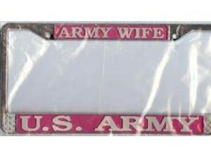U.S. Army Wife Chrome License Plate Frame  Free Screw Caps with this Frame