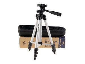 Inseesi Weifeng WT-3110A lightweight Aluminum Portable 3-Way Head Tripod +Tripod Carrying Bag for Canon Nikon Sony Samsung etc. Digital Cameras/ Camcorders/ Video /Cellphones