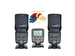 Yongnuo YN-560IV 2PCS Wireless Flash Speedlite kit + YN560-TX LCD Flash Trigger Remote Controller For Nikon DLSR Cameras
