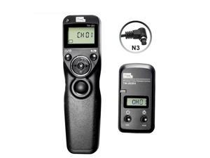 Pixel TW283 N3 Wireless Timer Remote Control Shutter Release with LCD Screen,Single for Canon:EOS 7D, 50S, 1DS, 6D, 50D, 40D, 30D, 20D, 10D.(Single,1S Continuous, Bulb,Delay,Timer Schedule Shooting )