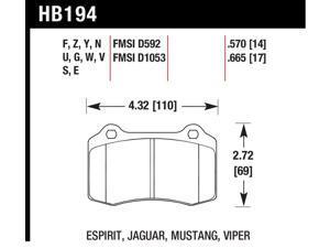 Hawk Performance HB194F570 Disc Brake Pad