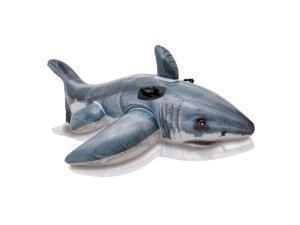 Great White Shark Ride-On Inflatable Pool Float