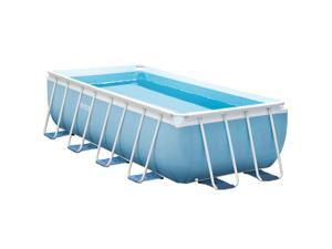 16 Foot x 8 Foot x 42 Inch Prism Frame Above Ground Swimming Pool - 28317EH