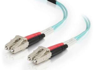C2G 10m LC-LC 50/125 OM4 Duplex Multimode PVC Fiber Optic Cable - Aqua