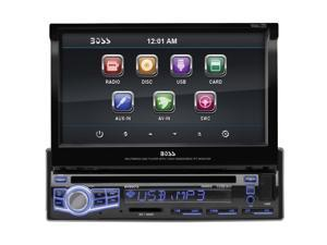 Boss Audio BV9973 Car Dvd Player - 7 Inch Touchscreen Lcd - Single Din - Dvd Video, Video Cd, Mp4, Mpeg, Avi - Am, Fm - Secure Digital (Sd) , Multimediacard (Mmc) - Auxiliary Input - 1 X Usb - 800 X 4