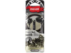 Maxell 196131 Classic Earbud With Mic Black