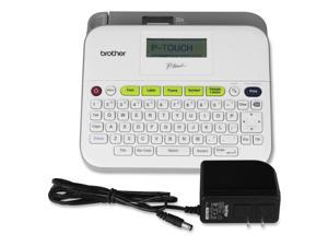 Brother PT-D400AD Versatile, Easy-To-Use Label Maker With Ac Adapter - 0.79 In/S Mono - Label, Tape0.14 Inch , 0.24 Inch , 0.35 Inch , 0.47 Inch , 0.71 Inch - Thermal Transfer - 180 Dpi Qwerty, Manual