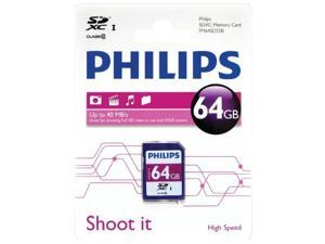 Philips FM64SD55B/27 Class 10 Memory Card (Sdxc &#59; 64Gb)