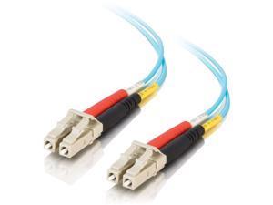 C2G 01115 9M Lc-Lc 10Gb 50/125 Om3 Duplex Multimode Pvc Fiber Optic Cable - Aqua - Network Cable - Lc Multi-Mode (M) To Lc Multi-Mode (M) - 30 Ft - Fiber Optic - 50 / 125 Micron - Om3 - Aqua