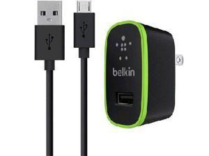 Belkin F8M667TT04-BLK Universal Home Charger With Micro Usb Chargesync Cable (10 Watt/ 2.1 Amp) - 10 W Output Power - 110 V Ac, 220 V Ac Input Voltage - 5 V Dc Output Voltage - 2.10 A Output Current