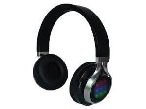 QFX, Inc. Bt Stereo Headphonens With Disco Light - H-252BT-BLK