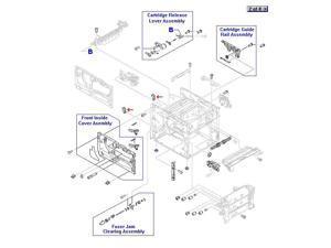 HP RB2-5570-020CN Door Dampener Hinge Mount - Left Side/Fuser Door Dampener Mount (Two Used)