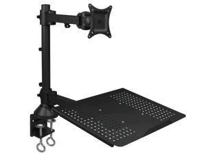 SIIG CE-MT1T12-S1 Desk Mount For Monitor / Notebook - Black - Screen Size: 13 Inch - 27 Inch