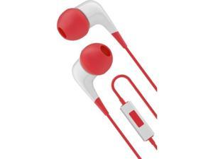 Cygnett CY1721HEWIR Wired Headphones With Built-In Mic White/Red