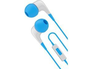 Cygnett CY1720HEWIR Wired Headphones With Built-In Mic White/Blue