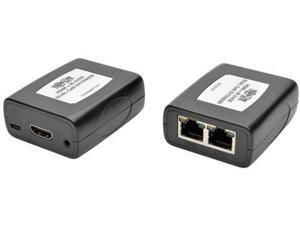 Tripp Lite B125-101-60-IRU HDMI over Dual Cat5/Cat6 Extender Kit, In-Line Transmitter/Receiver for Video/Audio, 1920 x 1080 (1080p) @ 60 Hz, IR (B125-101-60-IRU)