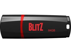 Patriot Memory PSF64GBLZ3BUSB Blitz 64Gb Usb 3.1, Gen.1 Flash Drive (Black)